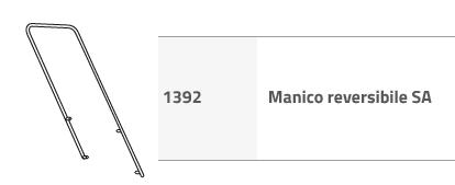 MANICO CROMATO PER CARRELLI SA ART.1392