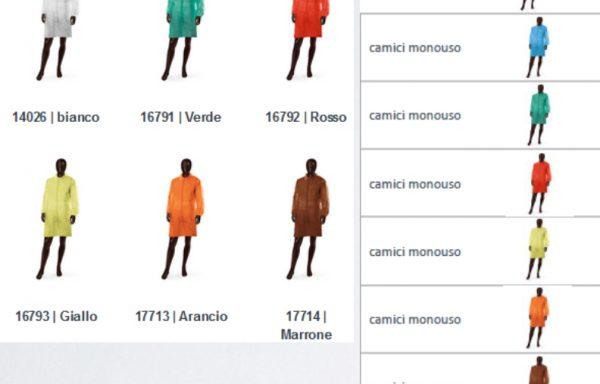 MONOUSO CODICE COLORE