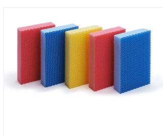 Spugne abrasive antigraffio colorate  Codici: AP767 – AP780 – AP788 – AP789