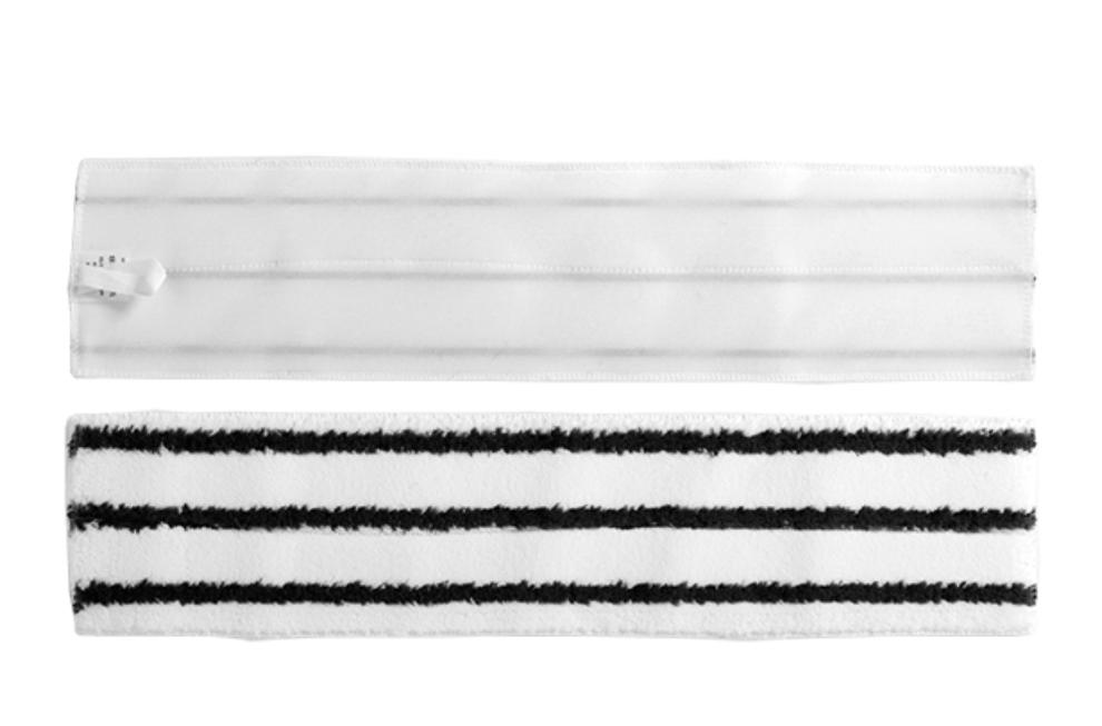 Frangia in microfibra per polvere rigata con velcro 60×14 cm – 70310
