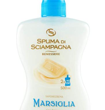 SAPONE SPUMA DI CHAMPAGNE flacone 500 ml.