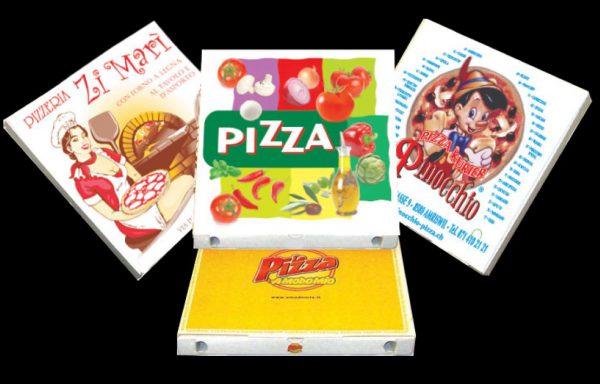 CARTONI PIZZA 29,5X29,5 PERSON.100 pz.